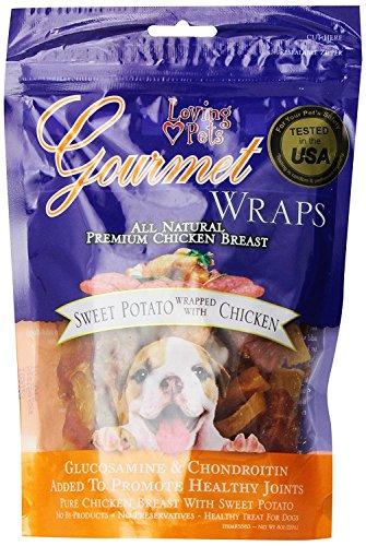 Gourmet Premium Meat Snack Wrap Dog Treat Flavor: Sweet Pota