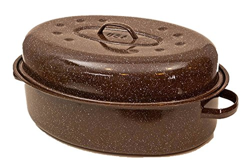 Mix Brands Granite Ware Rack And Lid Turkey Roasting Pan