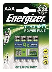 Energizer - Pilas recargables AAA (700 mAh, 4 unidades)