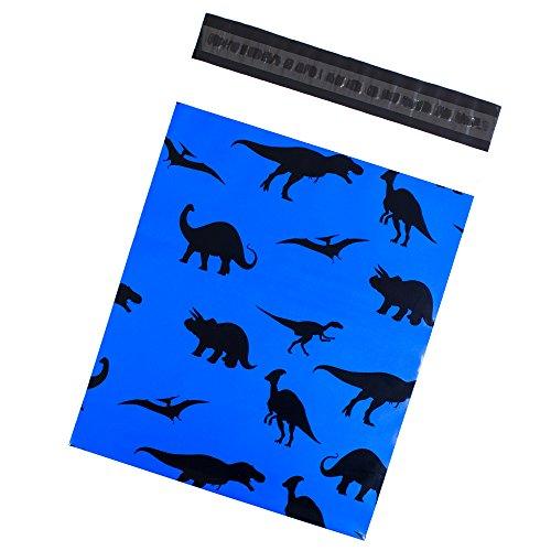 Inspired Mailers Poly Dinosaurs Kids Print, Premium Unpadded Shipping Envelopes, 10