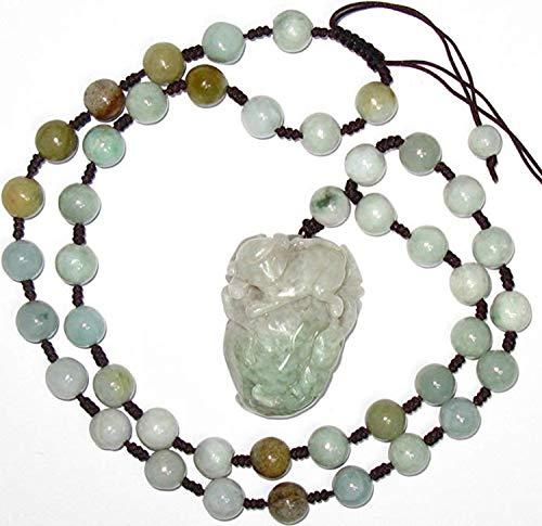 Grade A Jade-Nature Hisui Jadeite Jade Lucky Monkey Pick Wealth Melon Pendant