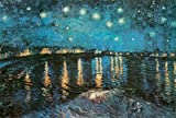 Vincent Van Gogh (Starry Night Over the Rhone) Art Poster Print - 24x36