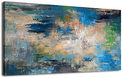 Large Abstract Wall Art Contemporary Ocean Canvas Wall Art Modern Abstract Seascape Artwork Canvas Picture Print