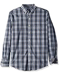 Men's Premium Performance Natural Stretch Plaid Long...