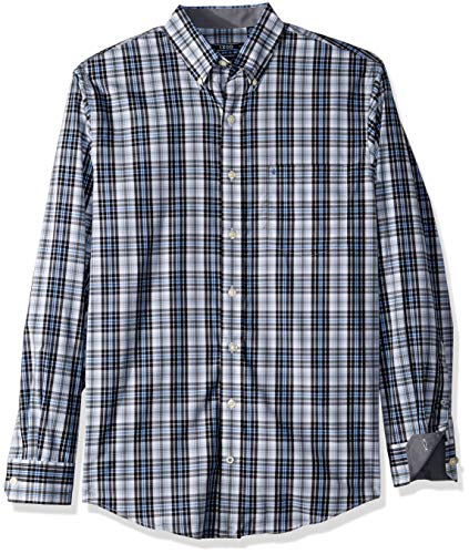 (IZOD Men's Premium Performance Natural Stretch Plaid Long Sleeve Shirt (Big & Tall and Tall Slim))