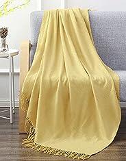 "SLPR Lightweight Soft Throw Blanket (50"" x 60"", Yellow) | Throw Blanket for Outdoor"