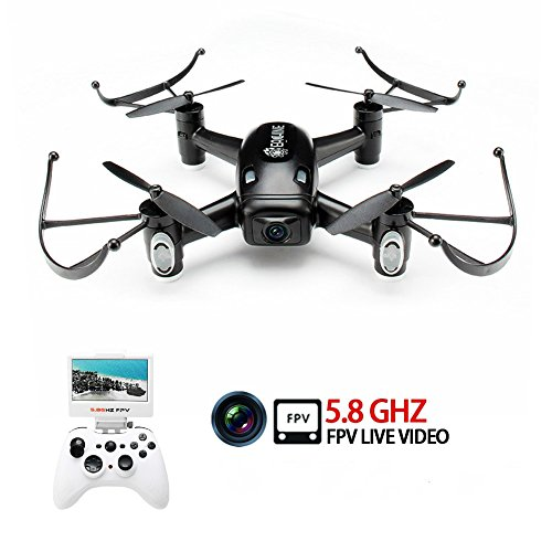 EACHINE E40G 5.8G FPV Quadcopter Drone With 720P Wide Angle HD Camera Real Time Live Video And Screen On Remote Control RC Quadcopter RTF Mode 2
