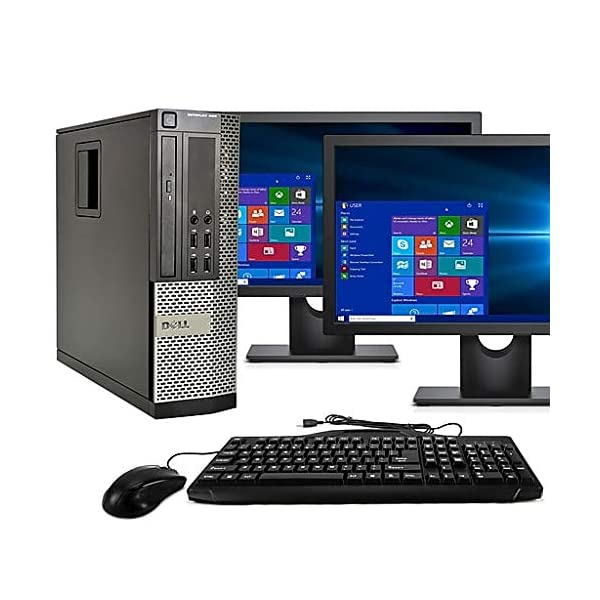 Desktop-Computer-Package-Quad-Core-i5-31GHz-8GB-Ram-500GB-Dual-22inch-LCD-DVD-WiFi-Keyboard-Mouse-Bluetooth-Windows-10-Pro-Compatible-with-Dell-OptiPlex-790-Renewed