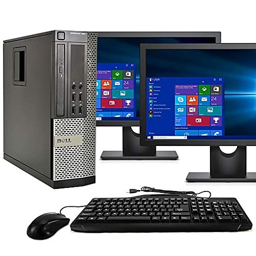 Dell Dual Keyboard (Dell Optiplex 790 Core i5 3.1GHz, 1TB Hard Drive, 16GB Memory, Windows 10 x64, Dual 19 Monitors (Certified Refurbished))