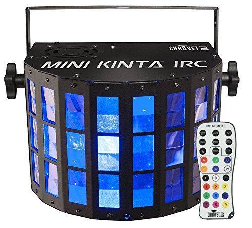 CHAUVET DJ Mini Kinta IRC Compact LED Derby DJ Effect Light and IRC-6 Infared Remote Control for DJ Effect/Strobe Lighting ()