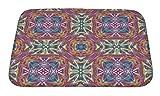 Gear New Mexican Textile Design Bath Rug Mat No Slip Microfiber Memory Foam