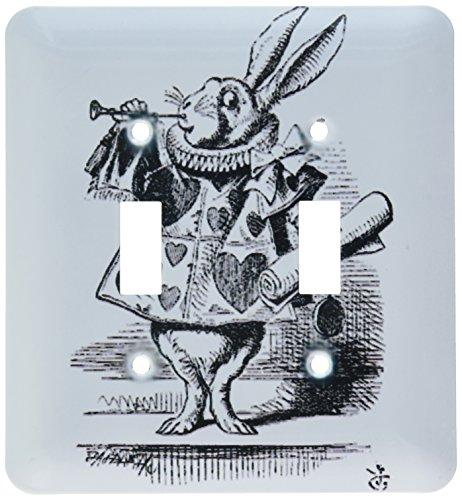 (3dRose lsp_193795_2 Alice in Wonderland White Rabbit in Costume John Tenniel Illustration Light Switch)