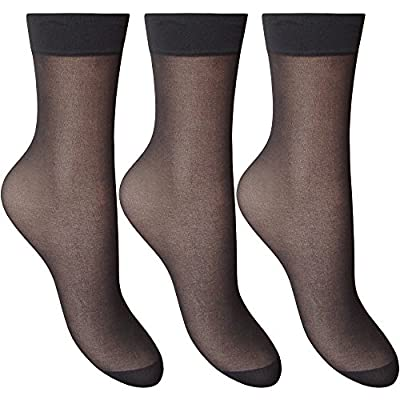 Women's Silky Soft, Sheer & Durable Smooth Knit Anklets (3 Pair Pack)