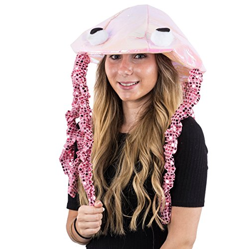Tigerdoe Jellyfish Hat - Sea Party Hat - Jellyfish Costume - Fish Hat - Ocean Party Theme (Pink)