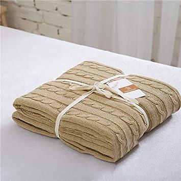 Amazon.com: Vaclziy 120180 - Manta de lino y algodón, para ...