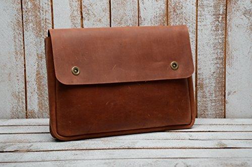 Genuine A4 Size Vintage Leather Folder, Document Holder, Office Paper File case,Leather Folder for Papers and documents, Leather Folio, Portfolio, Business Gift (Cognac)