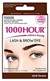 permanent 1000 Hour Eyelash & Brow Dye/Tint Kit Permanent Mascara (Dark Brown)