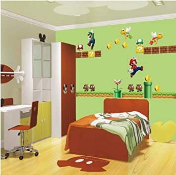 wandtattoo kinderzimmer super mario reuniecollegenoetsele. Black Bedroom Furniture Sets. Home Design Ideas