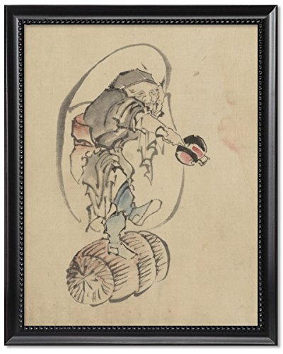 Framed Print 8x10: Hotei, The God Of Good Fortune, One Of The Seven Lucky Gods, - Bottomless Glasses Frames