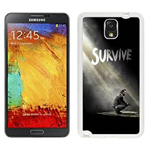 NEW Unique Custom Designed For Case HTC One M7 Cover Phone Case With The Walking Dead Season 5 Survive Rick_White Phone Case