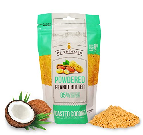 PB Trimmed TOASTED COCONUT Premium Powdered Peanut Butter - 6.5 oz Pouch. (Toasted Coconut, 6.5 oz) (Powdered Pb)