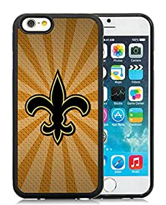 DIY Custom Phone Case For iPhone 6 New Orleans Saints 08 Black Phone Case For iPhone 6 4.7 Inch Cover Case