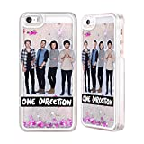 iphone 5 cases one direction - Official One Direction GP16 Group Photos Silver Liquid Glitter Case Cover for Apple iPhone 5 / 5s / SE