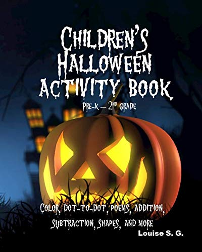 Children's Halloween Activity Book: Pre-K through 2nd grade