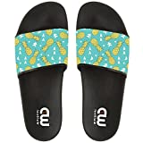 Love Summer Fruit Pineapples Slide Sandals Shoes, Cute Flip Flops, Beach Wear Casual Bath Slippers For Girls Boys