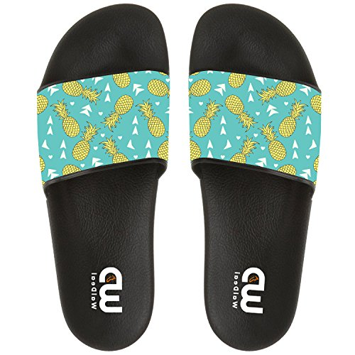 Love Summer Fruit Pineapples Slide Sandals Shoes, Cute Flip Flops, Beach Wear Casual Bath Slippers For Girls Boys by HAPONJDH (Image #1)