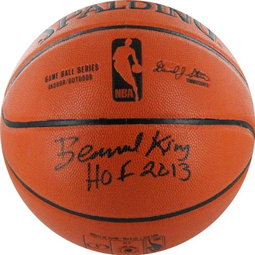 Steiner Sports NBA New York Knicks Bernard King Autographed Basketball with HOF 2013