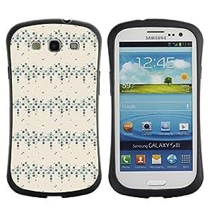 DesignCase Premium TPU / ABS Hybrid Back Case Cover Samsung Galaxy S3 III i9300 ( box pattern )