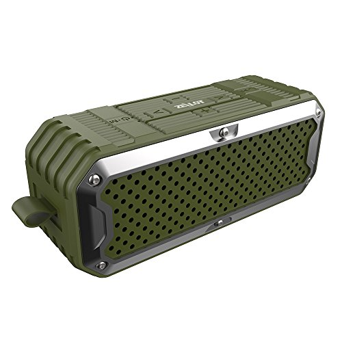 Zealot S6 Outdoor Aluminum Alloy Wireless Bluetooth Speakers With Superior Bass And 5200 Mah Power Bank  Green