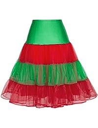 Women's 50s Vintage Petticoat Crinoline Tutu Underskirts Plus Size S-4X
