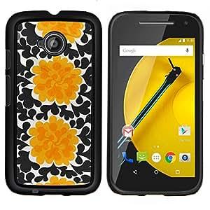 Stuss Case / Funda Carcasa protectora - Flores Negro Arte Wallpaper - Motorola Moto E2 E2nd Gen
