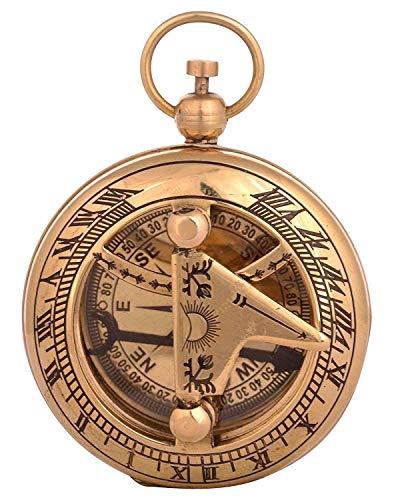 classical.gift.export Brass Compass Push Button 1.75