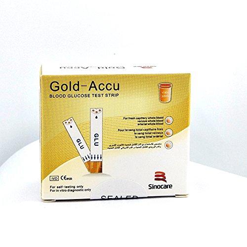 Diabetes Test Kit, Blood Glucose Meter with 50/100 Blood Glucos Test Strips 50/100 Free Lancets,Gold Electrode,5s Test time,Volume 0.8μL Blood (50 pcs Test) by Sinocare (Image #5)