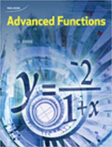 Nelson Advanced Functions 12: Student Book: Chris