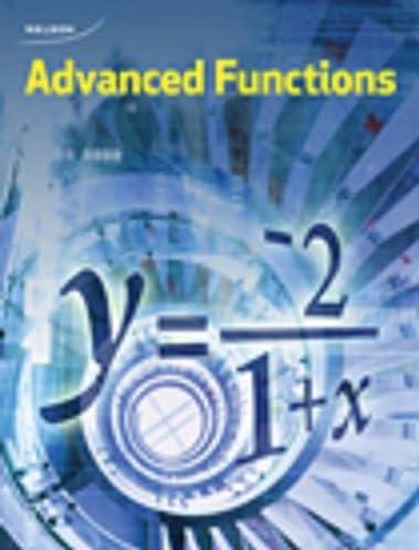nelson advanced functions 12 student book chris kirkpatrick rh amazon ca