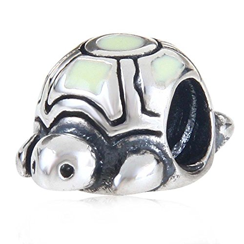 Tortoise Sea Turtle Charms 925 Sterling Silver Bead for Bracelet