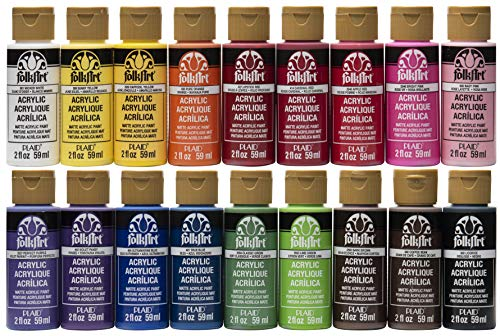 FolkArt Acrylic Paint Set (2-Ounce), PROMOFAI Colors I (18 Colors)