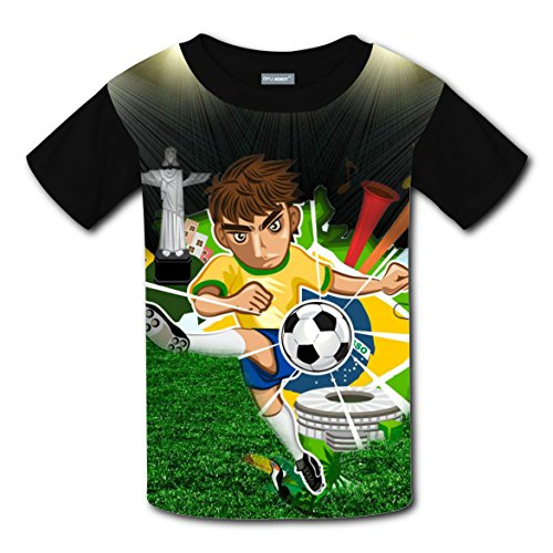 Kids Shooting at Goal Kids 3D Graphic Printed Short Sleeve Tee T shirts Boys Girls Tops L