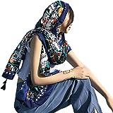 Womens Scarf Wraps Shawl Oversized Bohemian Soft Blanket 75''x 40''-Boho Throw Blanket-Picnic Blanket-Tablecloth,Sheer Gift for Women Girls (W21)