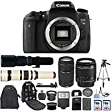Canon EOS Digital Rebel T6s 24.2MP SLR Digital Camera with Canon EF-S 18-55mm IS Lens + Canon 75-300mm Zoom Lens + 500mm Preset Telephoto Lens + 650-1300mm Zoom Lens + 2 pc Commander 32GB Memory Cards