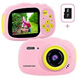 Kids Camera, IP68 Waterproof Camera for kids, HD 1080PUnderwater Camera for children with 32GB SD Card / MP3 / MP4 / Games Function, Extra Stickers, Bag and Lanyard Digital Camera for Girls Boys Gift