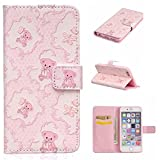 IGrelem-iPhone-7-Case-with-Free-Tempered-Glass-Screen-Protector-PU-Leather-Flip-Protective-Cover-Case-for-Apple-iPhone-7-47-Inch-Flowers-Butterfly-Deer-Bear-Feather-Colorful-Pattern-Design-Wallet-Case