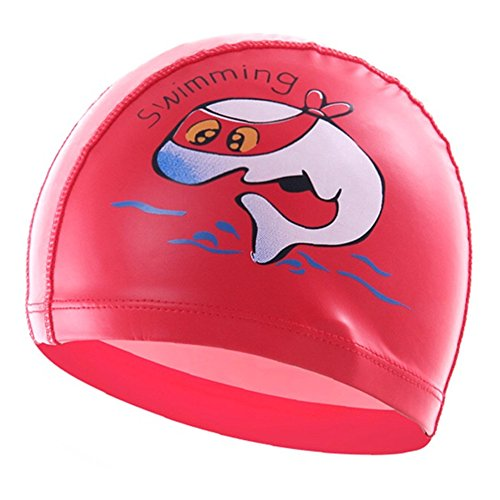 Girls Kids Children Swimming Caps Hat New Fit for 4-12 - In Stores Swimming Caps