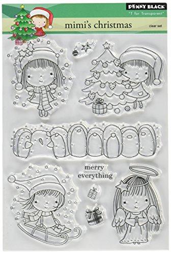 Penny Black PB30061 Clear Stamp Set, Mimi's (Christmas Acrylic Stamp Set)