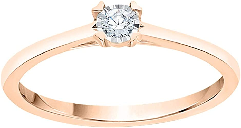Size-7.25 Diamond Wedding Band in 10K Yellow Gold G-H,I2-I3 1//20 cttw,