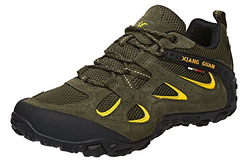 buy cheap get to buy cost for sale XIANG GUAN Men's Outdoor Low-Top Lightweight Trekking Hiking Shoes Green cheap supply fashion Style for sale fashion Style TgO94b46